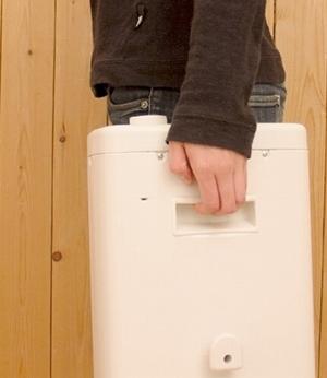 部屋から部屋の持ち運びもできるヒーター