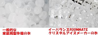 製氷機で作られる氷の比較