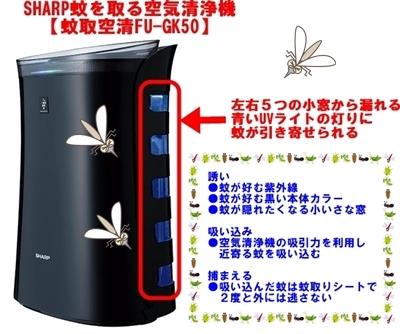シャープ蚊が獲れる空気清浄機FU-GK50