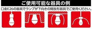 トイレのLED消臭電球を取り付け可能な電灯カバー