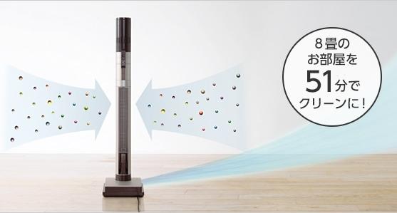 三菱インスティックの空気清浄性能