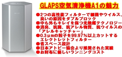 GLAPS空気清浄機A1の魅力