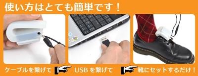 使うのも簡単でケーブルでパソコンと本体をつなぐだけ