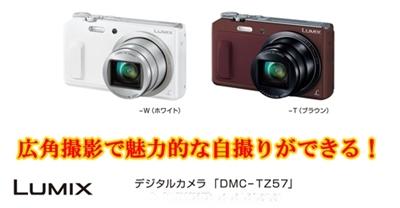 パナソニックLUMIX TZ57自撮りコンパクトデジタルカメラ